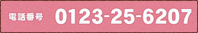 電話番号0123-25-6207