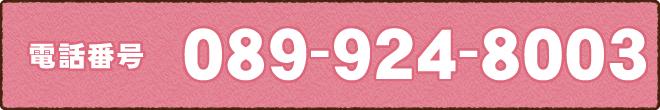 電話番号089-924-8003