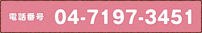 電話番号04-7197-3451