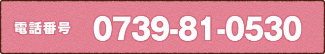 電話番号0739-81-0530